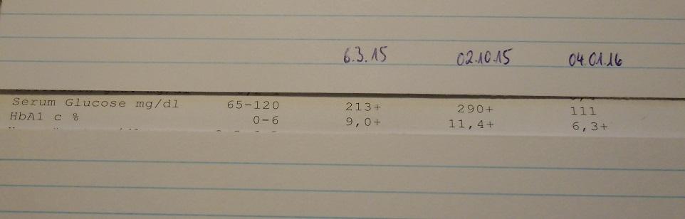 Laborwerte von esPerlsche - Blutzuckerwerte nach 3 Monaten LCHF