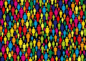 1.000 Gesichter - viele bunte, gezeichnete Männchen