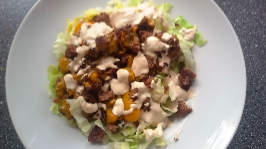 LCHF Rezept Big Mac Salat