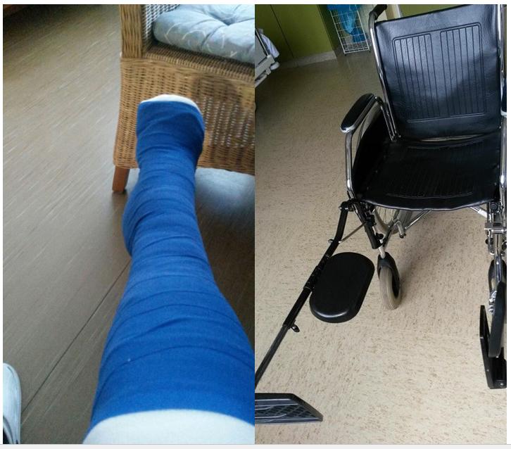 Mein Weg - Erikas Gipsbein und Rollstuhl