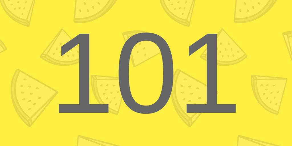 Zahlbild 101 - Süßes
