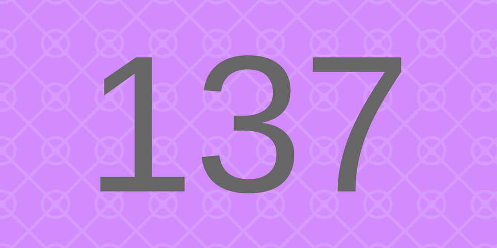 Zahlbild 137 - Süßes
