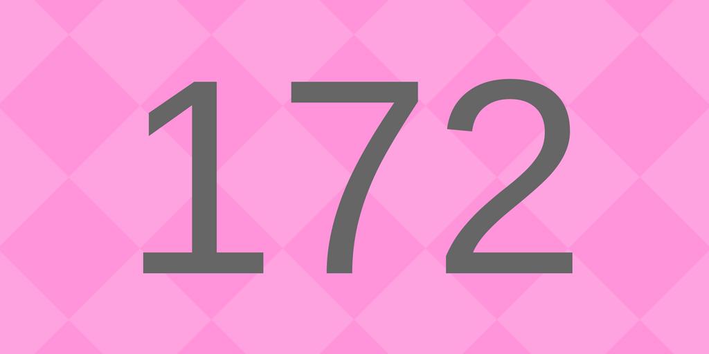 Zahlbild 172 - Süßes
