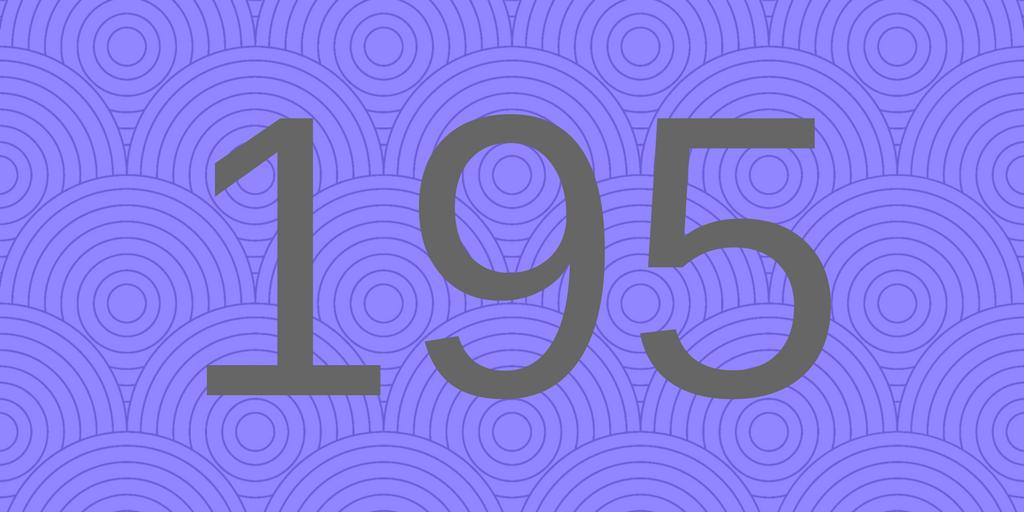 Zahlbild 195 - Süßes