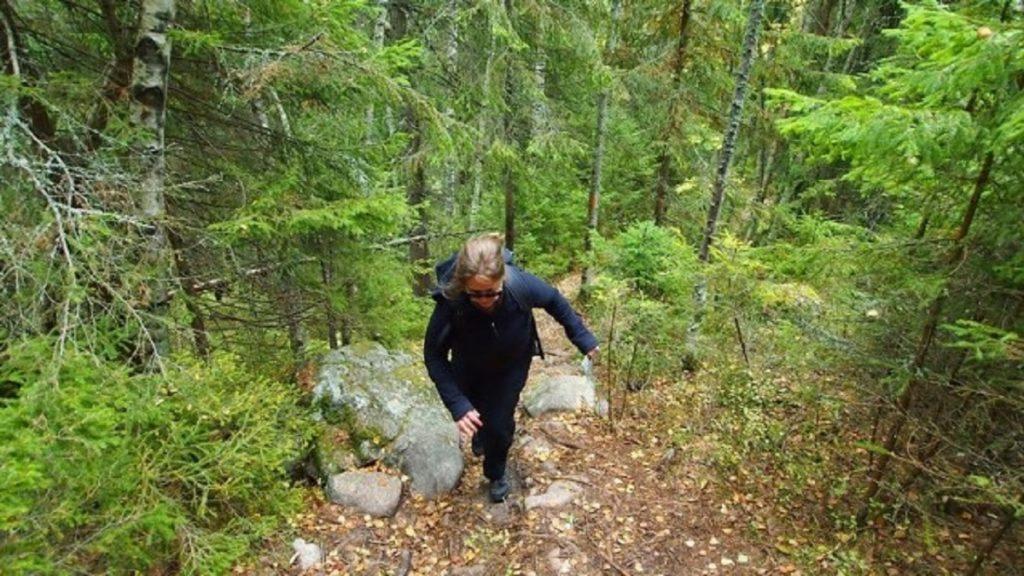 Ausdauer und Schnelligkeit - Annika schnell bergauf unterwegs