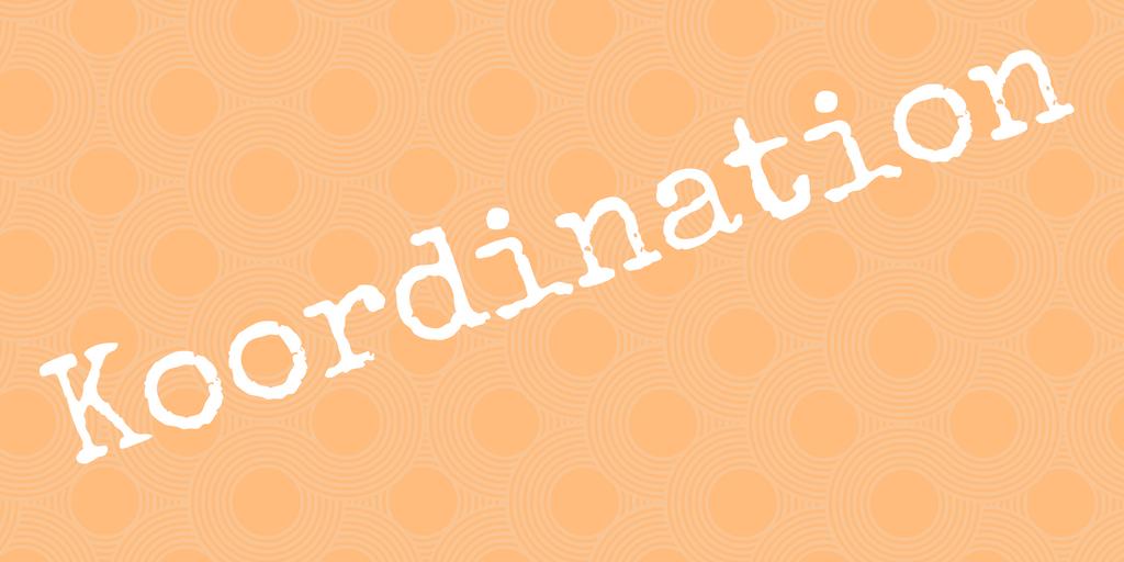 Fitnesskomponenten - Wortbild Koordination