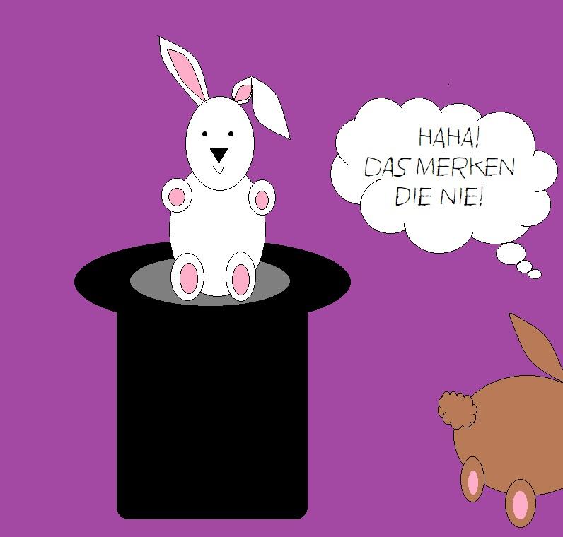 Falscher Hase - Comiczeichnung von Frau Yu