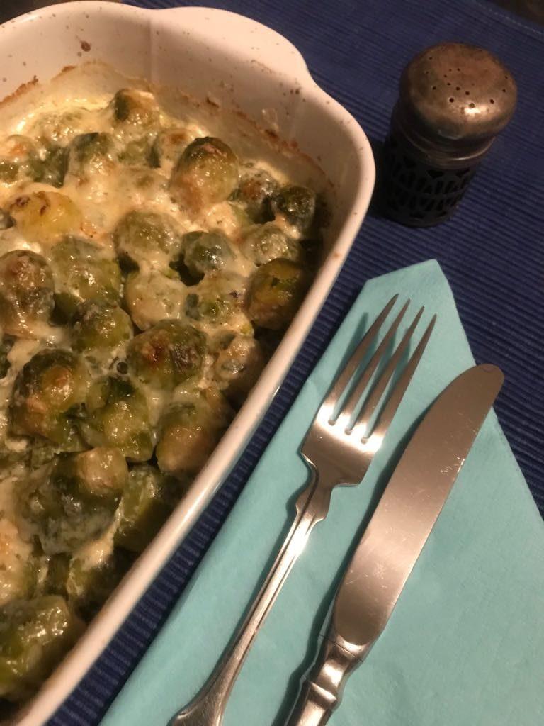 Rosenkohlauflauf für die vegetarischen LCHF-Tellerspione KW 11 - 2018